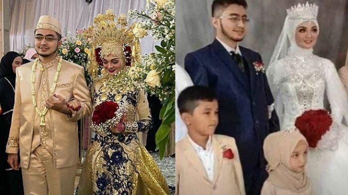 Lihat Penampilan Putri Rizieq Shihab, Najwa Shihab saat Menikah, Kenakan Gaun Nikah Warna Emas