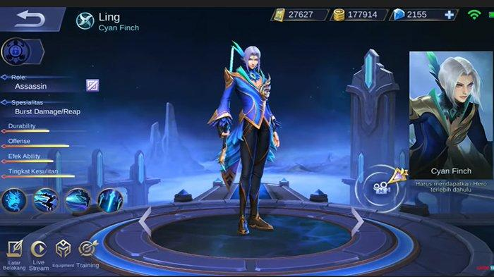 Hero Ling Mobile Legends Role Assassin Resmi Rilis 2 November, Detail Cara Penggunaan Build