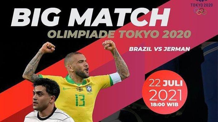 Live Streaming Brasil vs Jerman di Olimpiade Tokyo 2020, Kick Off 18.00 WIB via TVRI