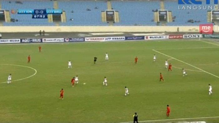 SEDANG BERLANGSUNG! Live RCTI Indonesia vs Brunei di Kualifikasi Piala Asia U23 2020, Pesta Gol?