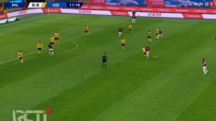 SEDANG BERLANGSUNG Live Streaming AC Milan vs Udinese di Liga Italia, Hakan Calhanoglu Absen