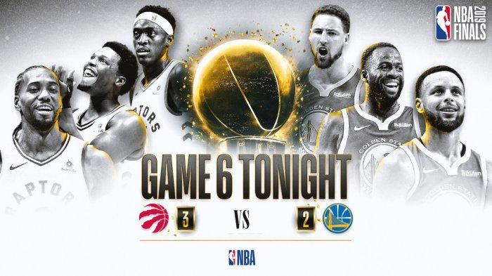 Live Streaming Final NBA Game 6 Toronto Raptors vs Golden State Warriors, Kevin Durant Tak Bisa Main