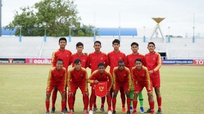 Susunan Pemain Indonesia vs Brunei Darussalam Kualifikasi Piala Asia U-16 2020, Athallah Dimainkan