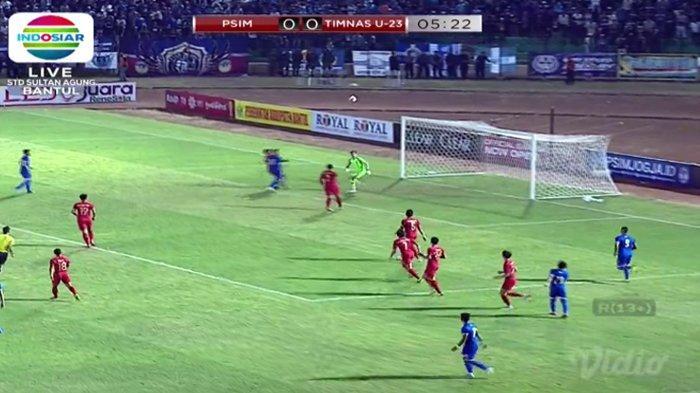 Hasil Timnas U23 Indonesia vs PSIM, Saling Tampil Menyerang,Skor Imbang di Babak Pertama