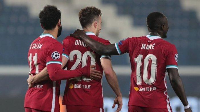 Atalanta 0-5 Liverpool, Trisula Sadio Mane, Mohamed Salah, dan Diogo Jota Menggila