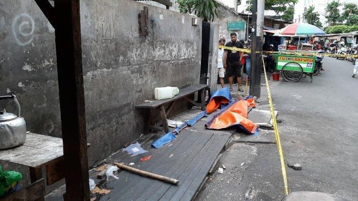 Lokasi penemuan potongan kaki manusia di Jalan Pedurenan Masjid Raya, Setiabudi, Jakarta Selatan, Senin (22/3/2021)