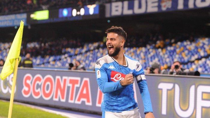 Lorenzo Insigne mencetak gol tunggal kemenangan Napoli vs Lazio, Selasa (21/1/2020) atau Rabu dinihari WIB di perempat final Coppa Italia