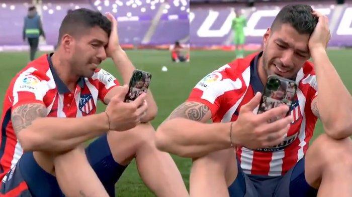 Dibuang Barcelona, Luis Suarez Menangis Raih Gelar Juara Liga Spanyol di Atletico Madrid