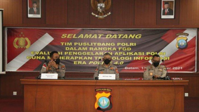 Mabes Polri Soroti Polresta Barelang Evaluasi Penggunaan Aplikasi Polisi