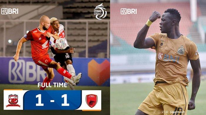 Hasil, Klasemen, Top Skor BRI Liga 1 2021: Arema FC, PSM & Persija Imbang, Ezechiel Ndouasel 3 Gol