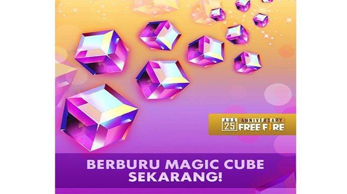 Dapatkan Magic Cube Gratis Free Fire, Login Hari Ini Minggu (25/8) dari Jam 11.00 Sampai 14.00 WIB