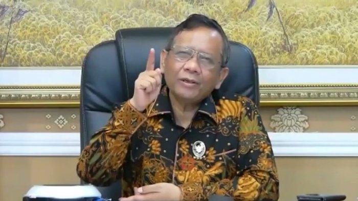 Menteri Koordinator Bidang Politik, Hukum, dan Keamanan (Menko Polhukam) Mahfud MD