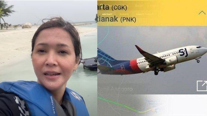 Maia Estianty beri pengakuan liburan di Pulau Seribu saat Sriwijaya Air SJ182 jatuh.