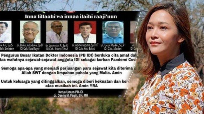 Ucapan Duka Maia Estianty untuk 6 Dokter yang Meninggal Akibat Corona, 'Selamat Jalan Pahlawan'