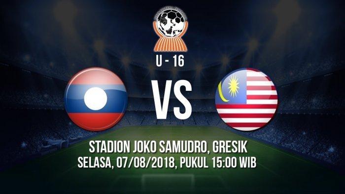 Link Live Streaming Malaysia vs Laos Piala AFF U16 2018. Laga Hidup Mati Lolos ke Semifinal