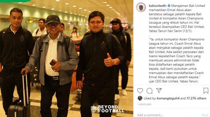 Hadapi Tampines Rovers, Bali United Ganti Pelatih Stefano Cugurra, Ini Penggantinya