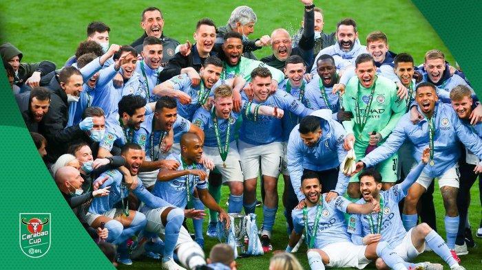 Final Carabao Cup Manchester City vs Tottenham, Aymeric Laporte Cetak Gol, Man City Juara