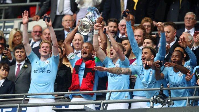 Hasil Final Piala FA Liga Inggris, Pesta 6 Gol ke Gawang Watford, City Juara! Raih 4 Gelar Musim Ini