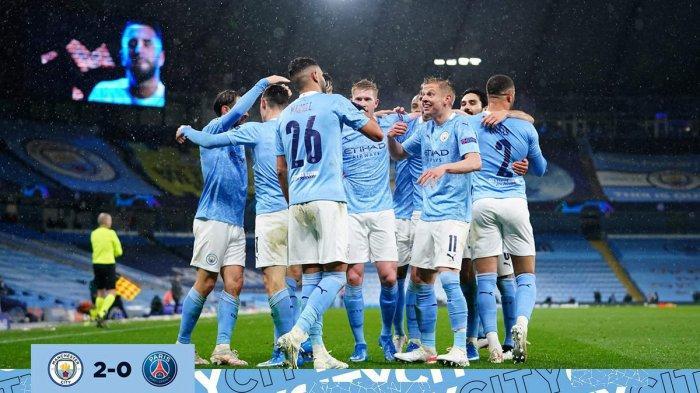 Hasil Manchester City vs PSG, 2 Gol Riyad Mahrez Kubur Impian PSG, Man City ke Final Liga Champions