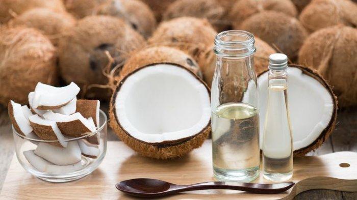 Ilustrasi virgin coconut oil (VCO)