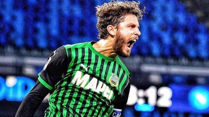 Manuel Locatelli mantan pemain AC Milan yang kini sukses di Sassuolo, Liga Italia 2020/2021