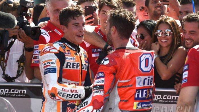 MotoGP - Tiga Kali Ducati Dobel Podium di MotoGP , Marc Marquez Jawab Ini