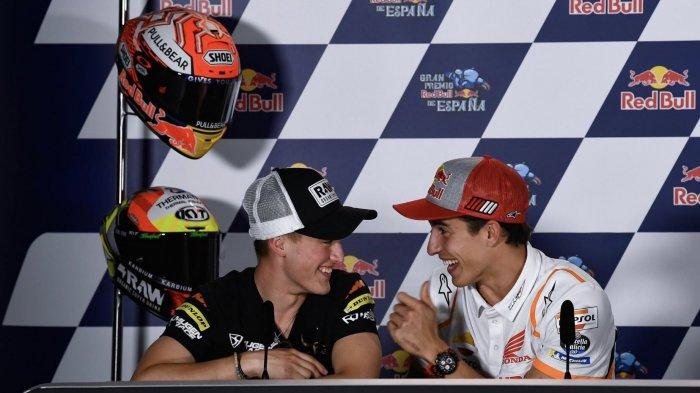 Momen Unik, Marc Marquez Dua Kali Usap Kepala Remaja Dalam Jarak 5 Tahun. Kini Jawara di Moto3