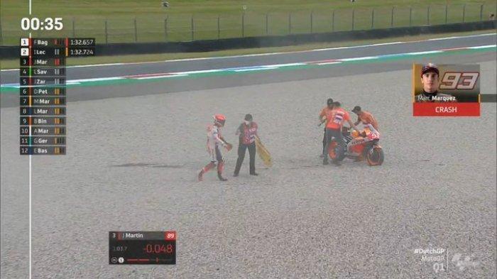 Hasil Kualifikasi MotoGP Belanda 2021, Vinales Tercepat, Marquez Terjatuh Lagi, Rossi Urutan 11