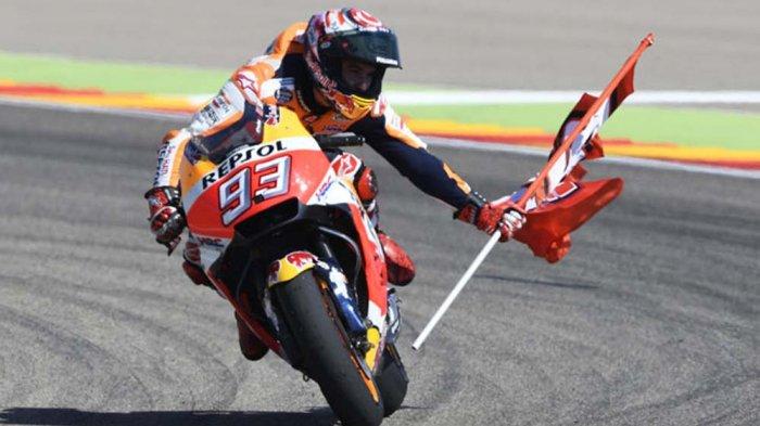 Jelang MotoGP Aragon - Jika Menang Lagi, Marc Marquez Bisa Pesta Juara Dunia di Thailand