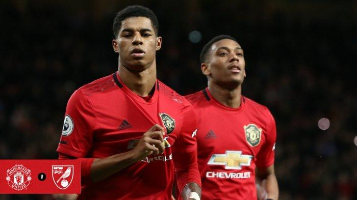 Hasil Premier League Liga Inggris Man United vs Norwich, MU Pesta Gol, Rahsford Sumbang 2 Gol