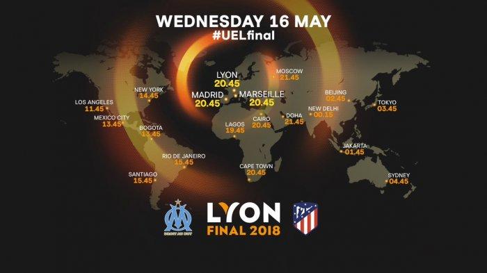 FINAL LIGA EUROPA. Marseille vs Atletico Madrid. Malam Ini Live SCTV Pukul 01.45 WIB Kamis Dinihari