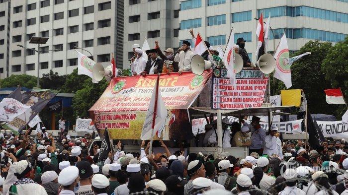 Jilid 2 Demo Tolak UU Cipta Kerja! Giliran FPI, GNPF-Ulama dan PA 212, Muhammadiyah Menolak Ikut