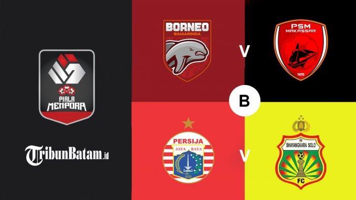 Jadwal Piala Menpora 2021 Hari Ini Borneo FC vs PSM, Persija vs Bhayangkara FC, Bisa Lolos Persija?