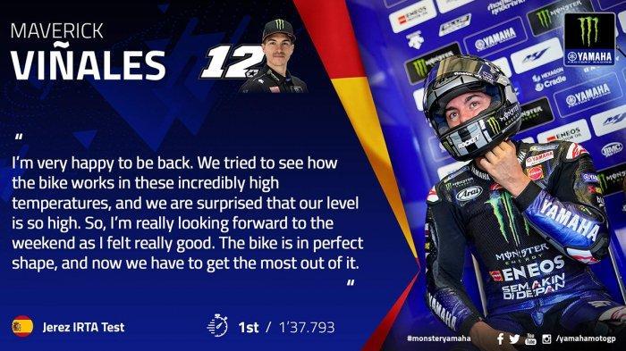 Jelang MotoGP Spanyol, Vinales Catat Waktu Tercepat Test Jerez, Maruqez 3, Valentino Rossi 16