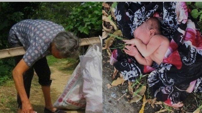 Ilustrasi wanita temukan bayi di tempat sampah
