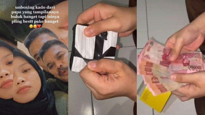 VIRAL Video Unboxing Kado dari Ayah, Bungkusnya Buluk Isinya Jutaan Rupiah