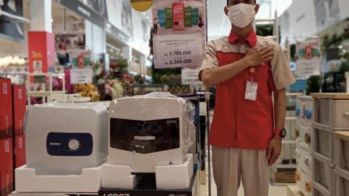Mesin penghangat air ditawarkan dengan harga khusus selama bulan Juli yakni hanya Rp1.799.000 ribu saja