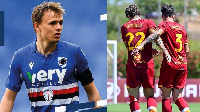Transfer AS Roma - AS Roma Menang 3-1, Granit Xhaka Gagal, Sampdoria Ingin Damsgaard ke Roma