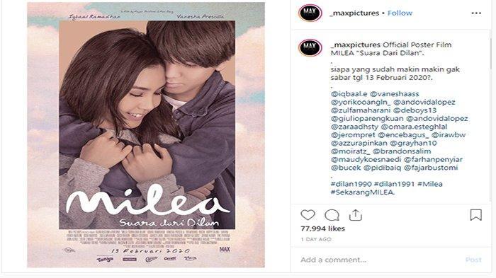 Film Milea: Suara dari Dilan Tayang 13 Februari 2020 di Bioskop, Ini Bocoran Sinopsisnya