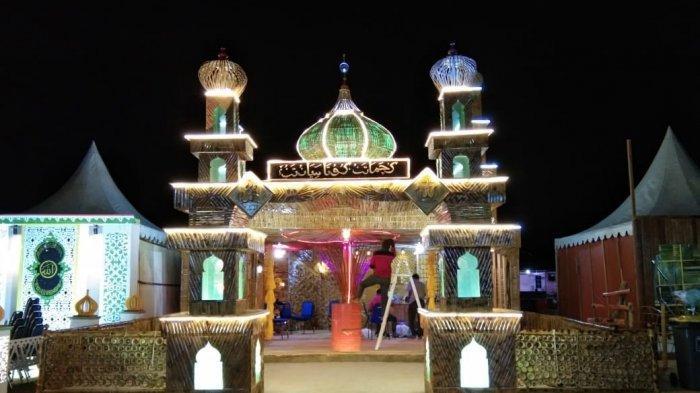 Gunakan 6.666 Bambu, Miniatur Masjid Kute Siantan Pukau Pengunjung MTQ Tingkat Kabupaten Anambas