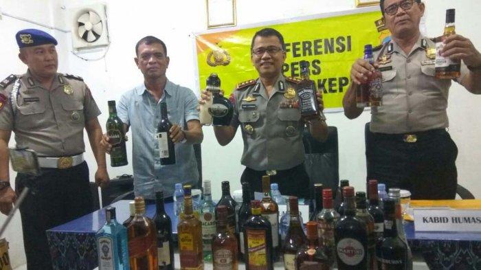 Ditpolairud Amankan 7.122 Botol Miras, Diselundupkan ke Batam dari Singapura. Siapa Tokenya?