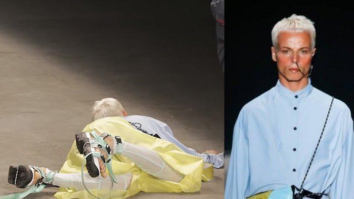 Dikira Skenario Acara, Model Pria Ini Tiba-tiba Jatuh dan Meninggal saat Berjalan di Atas Catwalk