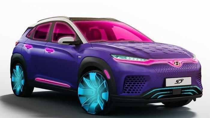 Hyundai Kona Electric Tampil Warna-Warni Ala Film Avatar, Begini Penampakannya