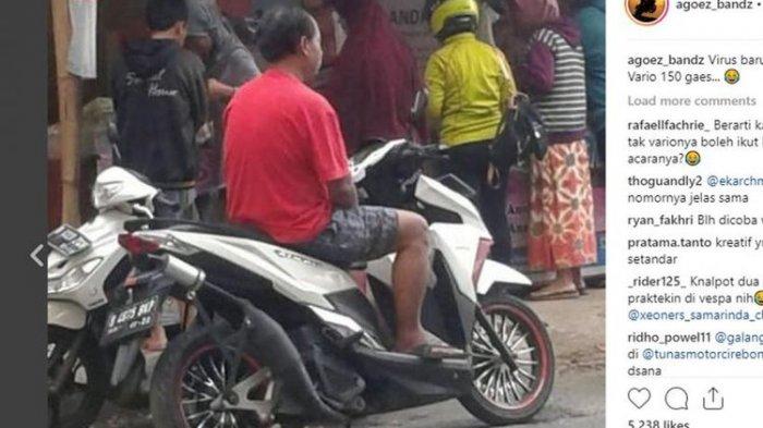 Viral, Gambar Modifikasi Motor Matic Pakai Knalpot Motor 2-Tak. Ini Kata Netizen