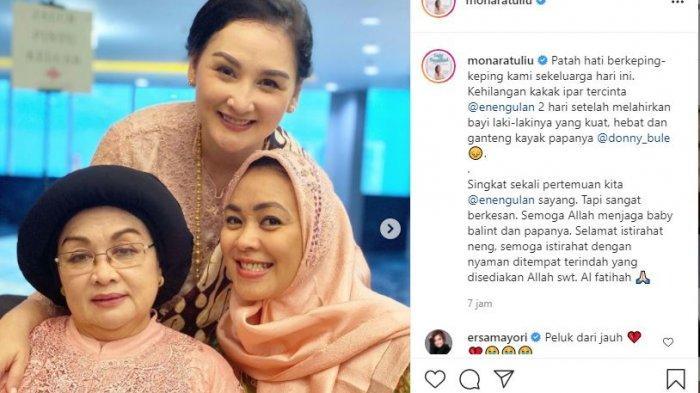 Kabar Duka, Kakak Ipar Mona Ratuliu Meninggal Setelah Dua Hari Lalu Melahirkan: Selamat Istirahat