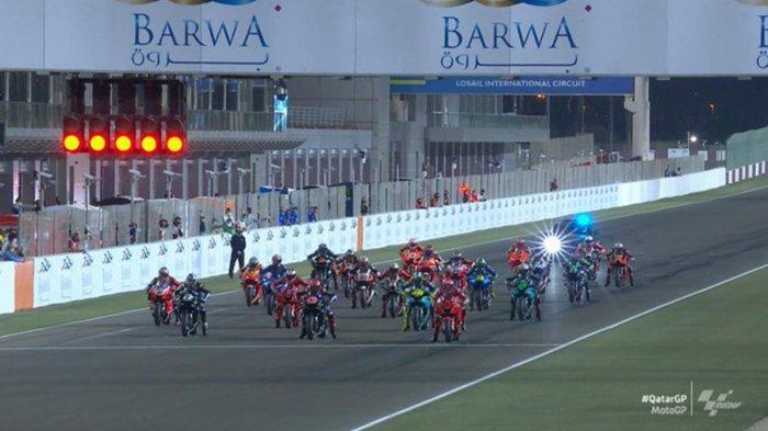 Hasil MotoGP Qatar 2021 Maverick Vinales Juara, Johann Zarco- Bagnaia Podium 2-3, Valentino Rossi 12