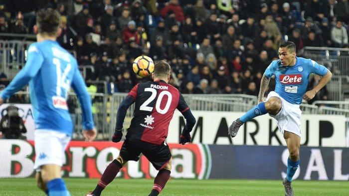 Hasil Liga Italia - Napoli Pesta 5 Gol di Kandang Cagliari. Dicetak 5 Pemain Berbeda