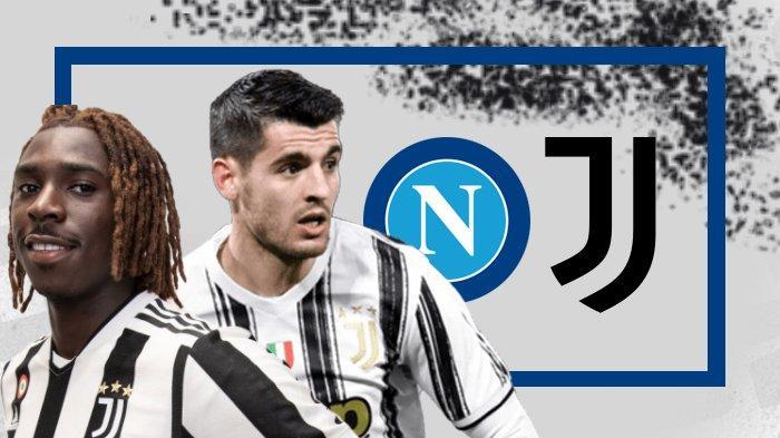 Napoli vs Juventus Kick Off 23.00 WIB, Dybala Absen, Juventus Bisa Andalkan Duet Moise Kean - Morata