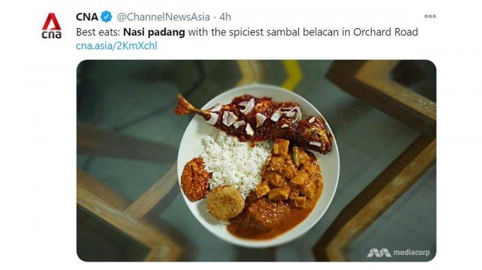 Nasi Padang Sambal Belacan di Singapura, Bisa Didapatkan di Sini, Harganya Juga Tidak Mahal