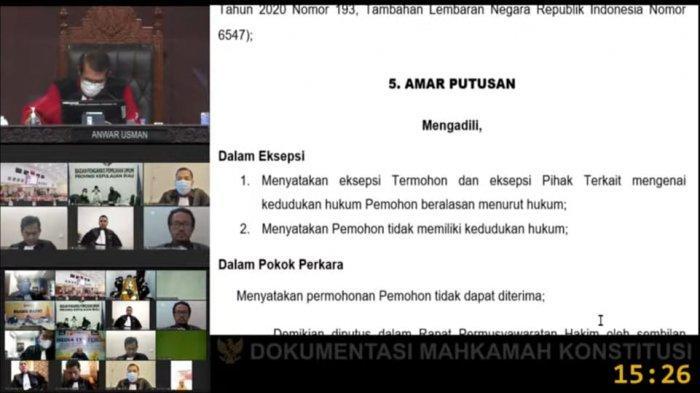 MK Tolak Gugatan Pilkada Kepri, Ansar Ahmad dan Marlin Agustina Melenggang Pimpin Kepri